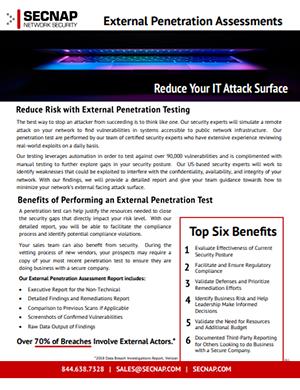 External Penetration Testing   SECNAP Network Security